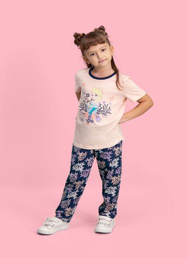 Frozen Karlar Ülkesi Elsa - Frozen Lisanslı Kız Çocuk Pijama Takımı Pembe